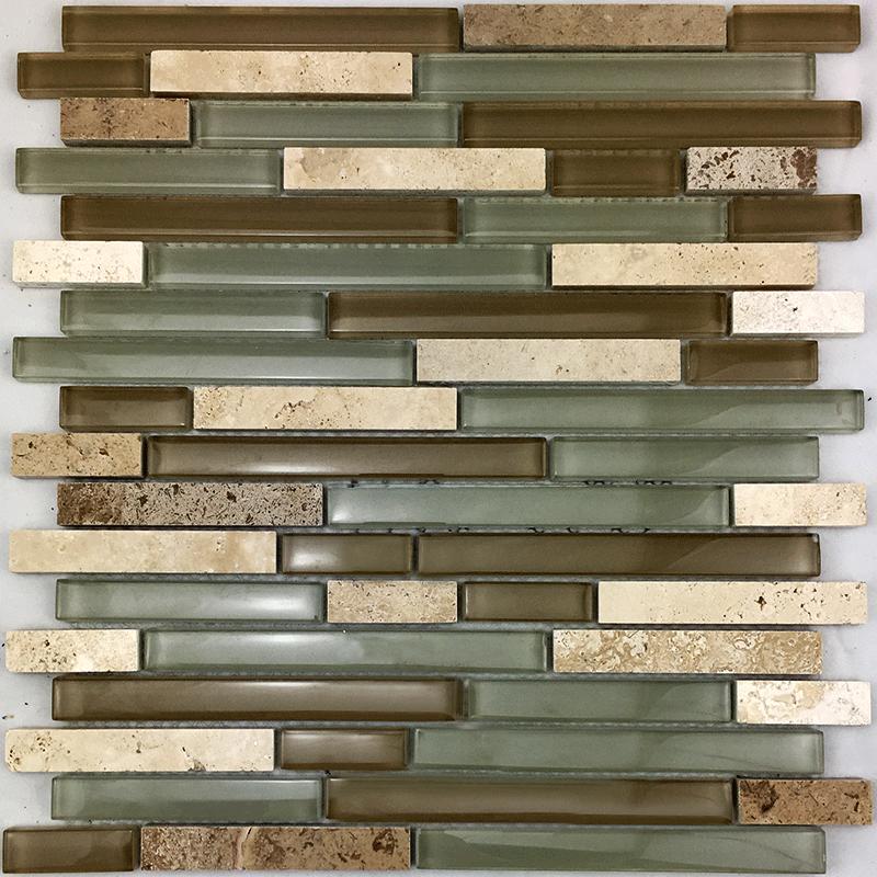 10000 Stakleni mozaik 300x300x8 Travertin 0,99m2