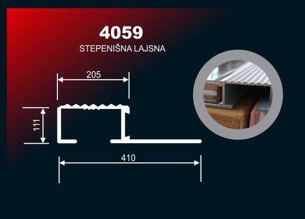 2537 Lajsna Al.4059Sr.Mat 3M/10Mm