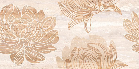 4194 Traventino Flower 25x50 I Kl