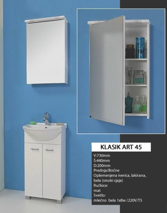 4336 Toaletno Ogledalo KLASIK ART 45