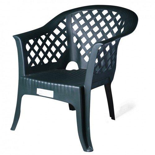 4921 Bastenska fotelja Lario zelena