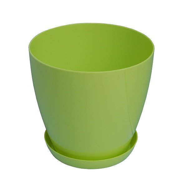 7093 Saksija Lux 28cm zelena gardino