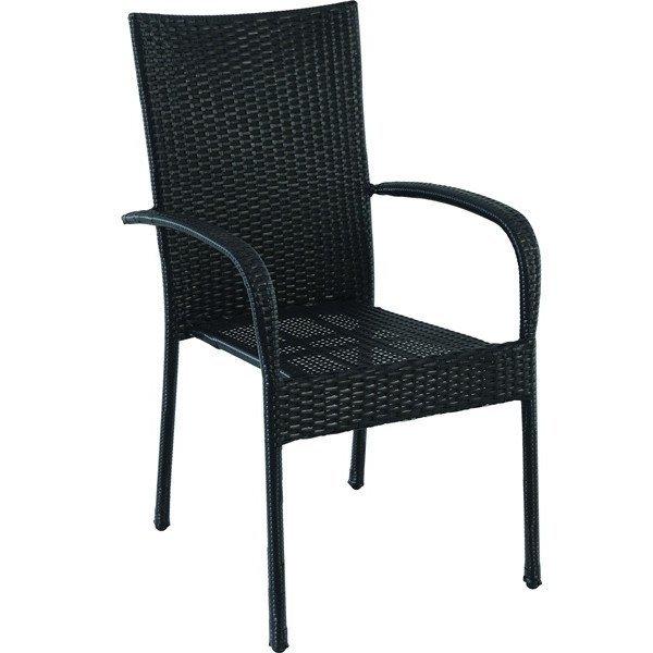 7347 Bastenska stolica od ratana crna Avola 047010