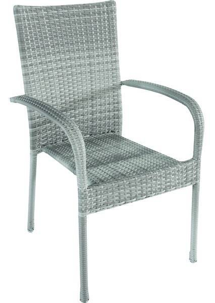 7349 Bastenska stolica od ratana siva Avola 047064