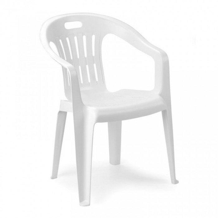 9672 Bastenska stolica plasticna piona bela
